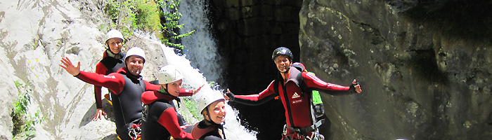 canyoning am gardasee in italien