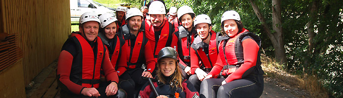rafting canyoning gruppen angebot oesterreich