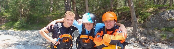 outdoorplanet rafting canyoning team
