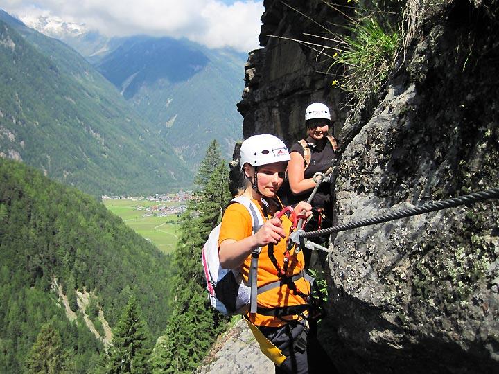 Klettersteig Oetztal : Klettersteige jubiläumsklettersteig lehner wasserfall km